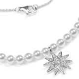 Necklace with pearls and star 925 silver