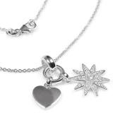 Necklacewith 2 Charms 925 silver