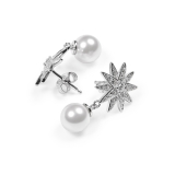 Earrings Star with pearls 925 silver