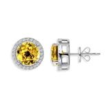 Earrings Royal Citrin, 925 silver