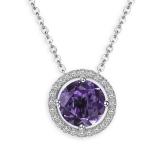 Necklace  Royal Amethyst, 925 silver