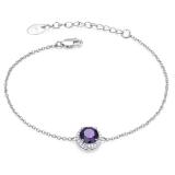 Bracelet  Royal Amethyst, 925 silver